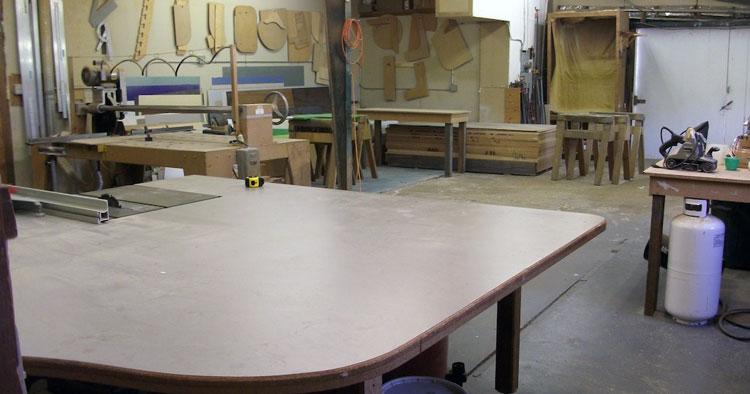 K & R Countertops workshop